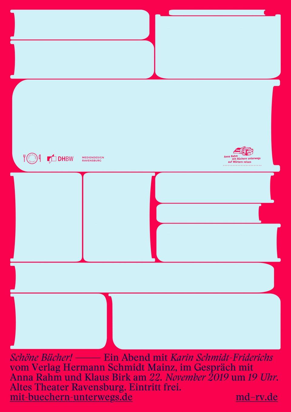 """Poster: Klaus Birk, """"Schöne Bücher"""""""