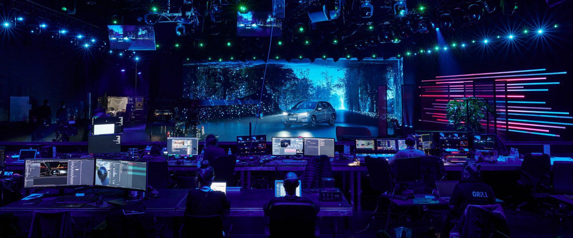 Elastique.: Virtual Production Cave MixedReality. BehindTheScenes. Photo: Manuel Nagel