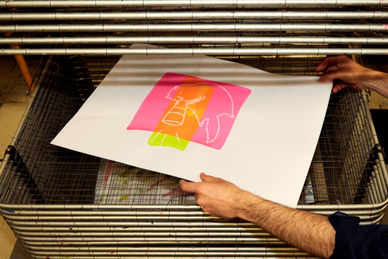 Siebdruck Entwurf