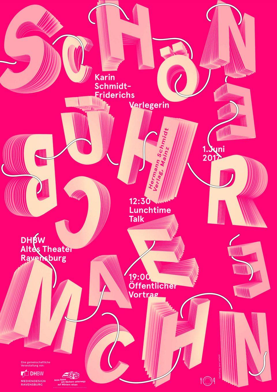 Plakatentwurf: Jana Lenhard (Lunch und Dinner)
