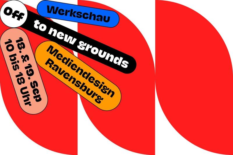Off to new grounds Werkschau Mediendesign