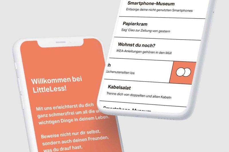 littleless Bachelorarbeit: Luis Jordan, Max Kutschker, DHBW Mediendesign
